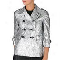 Gryphon Silver Metallic Linen Jacket