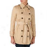 Gryphon Timeless Mini Khaki Short Belted Trench
