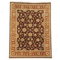 Gulej Cocoa Brown & Ginger Hand Knotted Wool Rug