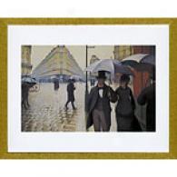 Gustave aCillebotte Paris Street; Rainy Day Print