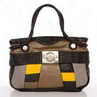 Gustto Merls Black & Yellow Shopper Bag