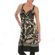 Hale Bob Olive Silk Jersey Print Dress