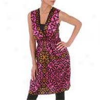 Hale Bob Pink Extend Silk Charmeuse Dress