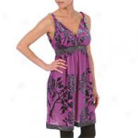 Hale Bob Purple Hydranga Velvet Burnout Tank Dress