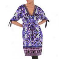 Hale Bob Purple Silk Charm Print Tunic