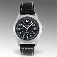 Hamilton Khwki Iii Leather Black Dial Watch