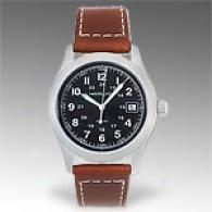 Hamilton Khaki Iii Mens Brown Leather Strap Watch