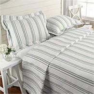 Hampton Stripe Matelasse Coverlet & Sham Set