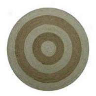 Hand-woven Braided Round Jute Rug