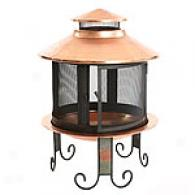 Handcrafted Copper Chiminea