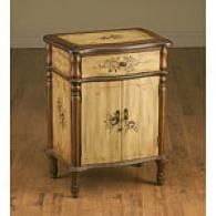Handpainted Brown End Table With Dark Brown Trim