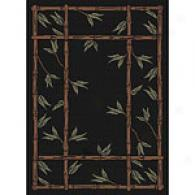 Harmony Collection Bamboo Black Indoor/outdoor Rug