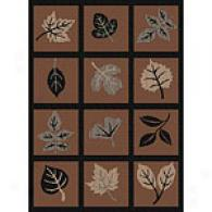 Harmony Collection Leaf Prinnt Indoor/outdoor Rug