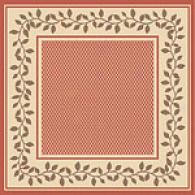 Harmony Collection Terra Cotta Square Rug