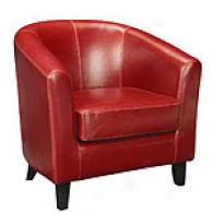 Harvard Ox-blood Tub Chair