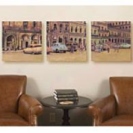 Havana Set Of 3 16in X 16in Canvas Prints