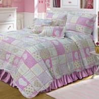 Hearts & Roses 100% Cotton Reversible Quilt Impart