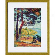 Henri Edmond Cross At Pardigon Framed Print