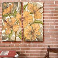 Hibiscus Song Set Of 2 12in X 24in Canvas Prints