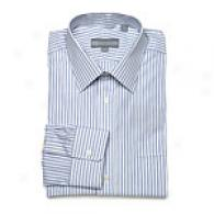 Hickey Freeman Blue Double Stripe Dress Shirt