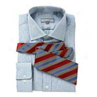 Hjckey Freeman Blue Oxford Solid Dress Shirt