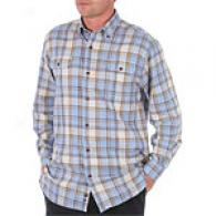 Hickey Freeman Blue Plaid Cotton Shirt