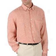 Hickey Freeman Cayenne Gingham Linen Shirt