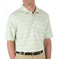 Hickey Freeman Melange Multi Stripe Polo