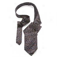 Hickey Freeman Ships of war Dramatic Paisley Silk Tie