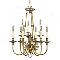 Hinkley Lighting Oxford Pewter Chandelier