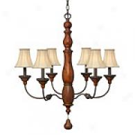 Hinkley Lighting Six Light Canterbury Chandelier
