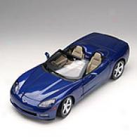 Hot Wheels 1:12 C6 Dark Blue Convertible Corvette