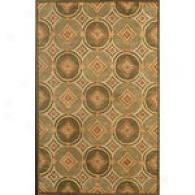 Hugo Collection Green Hand Tufted Wool Rug