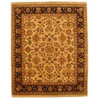 Indo Sarouq Gold And Black Hand-knotted Wool Rug