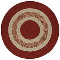 Indoor/outdoor Braided Red 8ft Round Rug