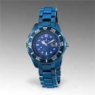Invicta Womens Metallic Blue Solid Ceramic Watch