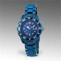 Invicta Womens Metallic Blue Solid Ceramic Watch
