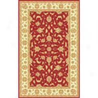 Isabella Red & Ivory Kashan Wool Rug