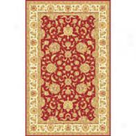 Isabella Red & Ivory Tabriz Wool Rug