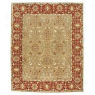 Iskon Tan & Rust 5x8 Hand Tufted Wool Rug
