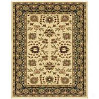 Ivory & Charcoal Traditional Area Rug