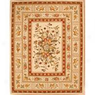Ivory Orchid Traditional Floral Wool Rug