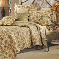 Jacobean Lily Floral Cotton Quilt Set