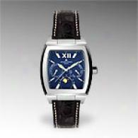 Jaues Lemans Black Leather Animus Watch