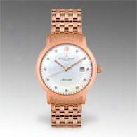Jacques Lemans Geneve Mens Diamond Rose Gold Watch