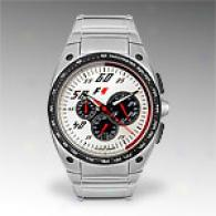 Jacques Lemans Mens F1 Series Steel Chrono Watch