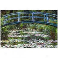 Japanese Footbridge By Monet Canvas Print