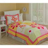 Jenny Floral Cotton Quilt Set