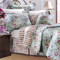 Jessica Blue Floral Cotton Quilt Set
