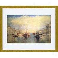 Jmw Turner Grand Canal, Venice Framed Print